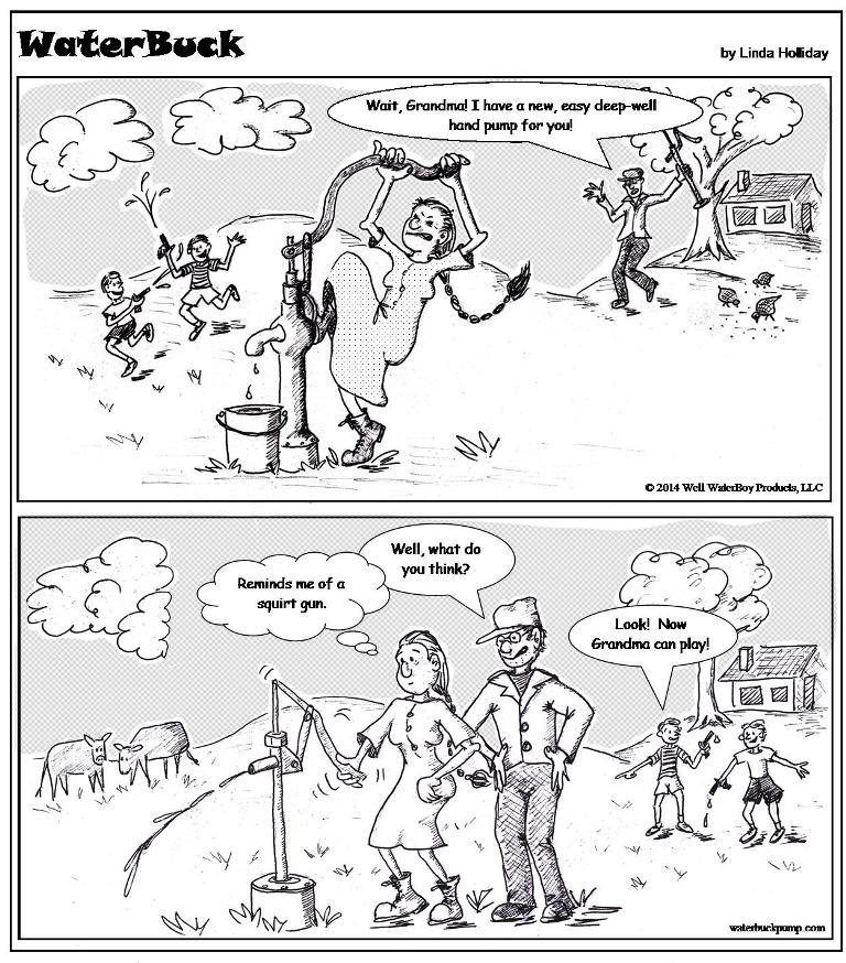 hand pump comics