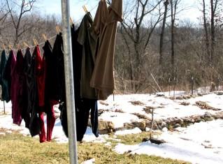 snow clothesline