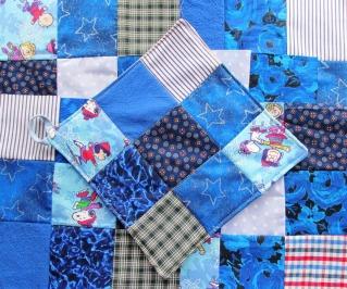 Winter patchwork potholders