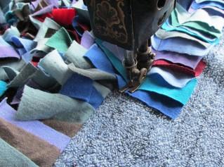Shag rug stitching